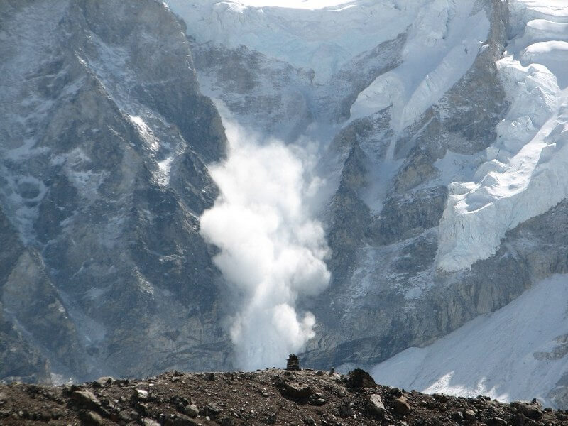 Avalanche on Everest