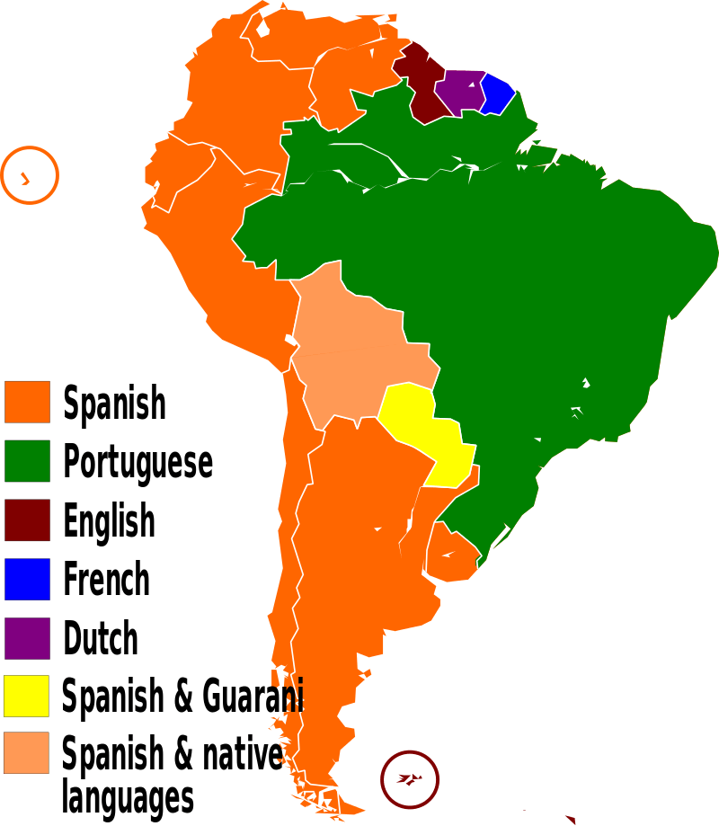 Languages spoken in South America
