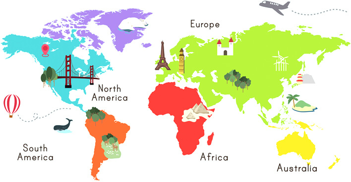 Geography Map For kids